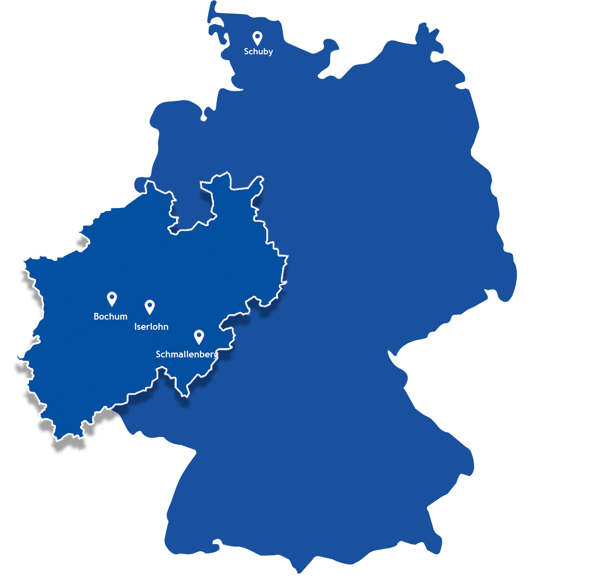 SkySystems Deutschlandkarte